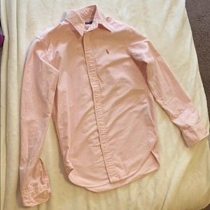 Light pink striped polo Ralph Lauren oxford